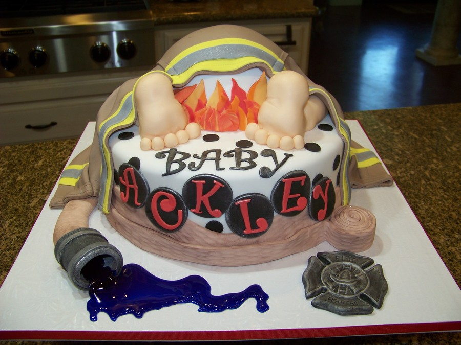 Firefighter Baby Rump Cake Cakecentral Com