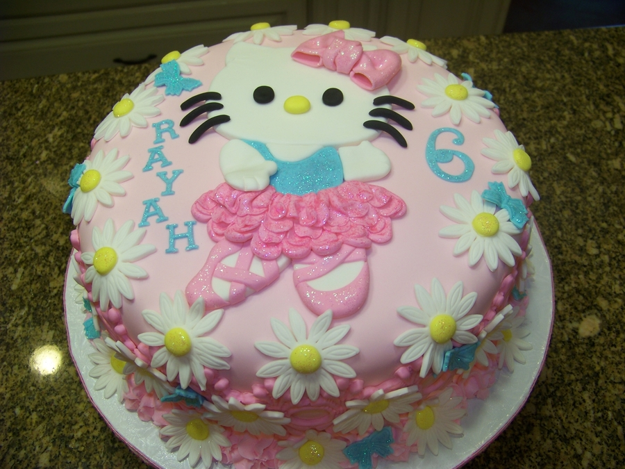 Ballerina Kitty Cake on Cake Central
