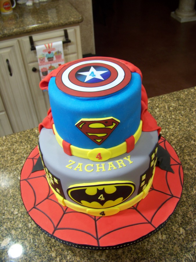 Easy Captain America Cake