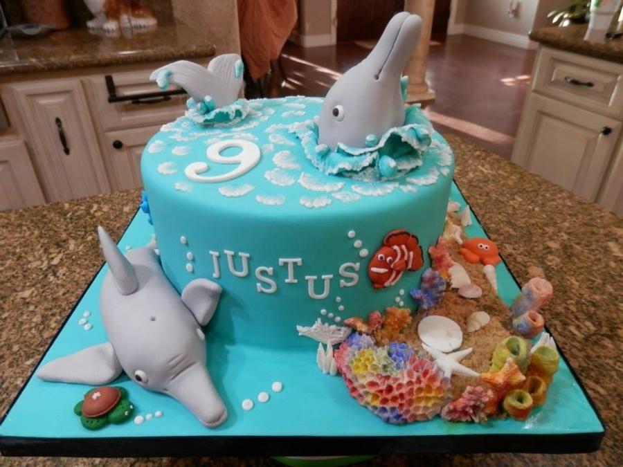 Dolphin Themed Birthday Cake Cakecentral Com