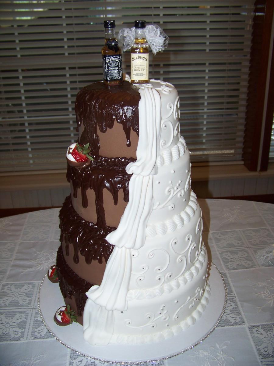 his hers wedding cake. Black Bedroom Furniture Sets. Home Design Ideas