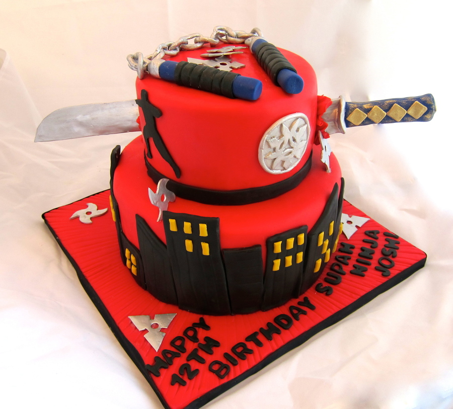Ninja Birthday Cake Designs