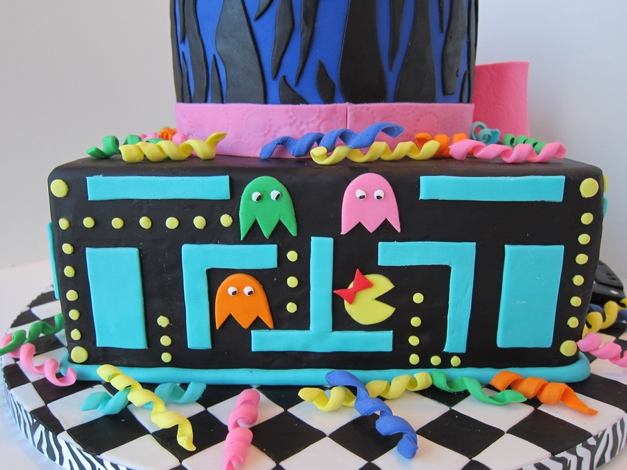 Awesome 80s birthday cake for 80s cake decoration ideas