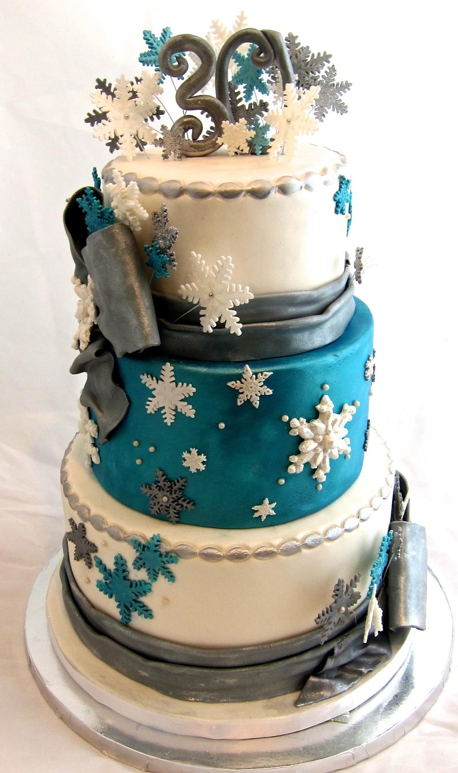 Winter Wonderland 30th Birthday Cake Cakecentral