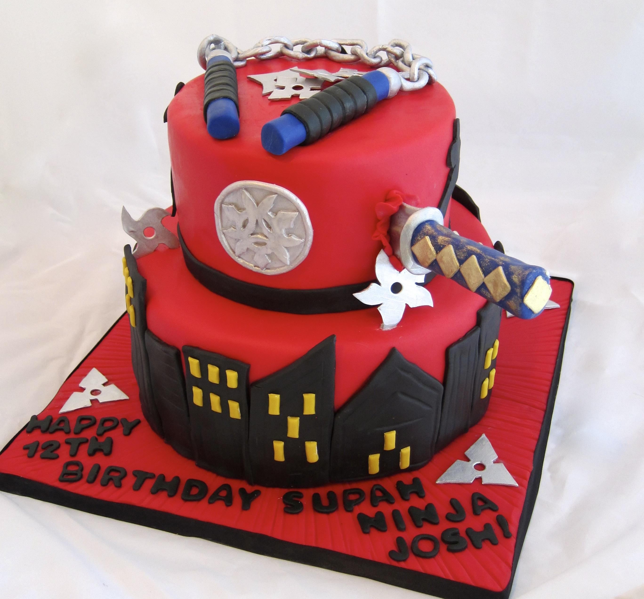 Ninja Birthday Cake CakeCentralcom