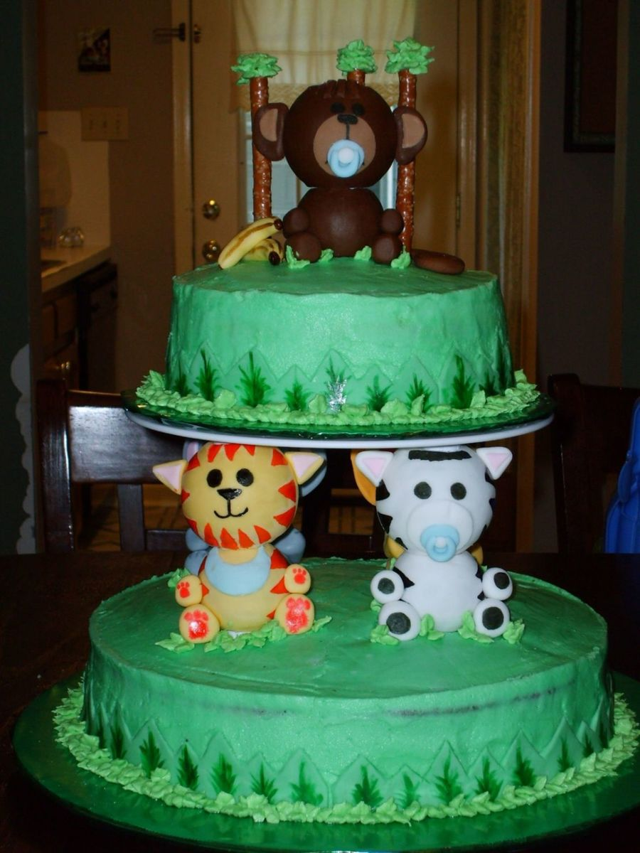 Jungle Theme Baby Shower For Baby Boy on Cake Central