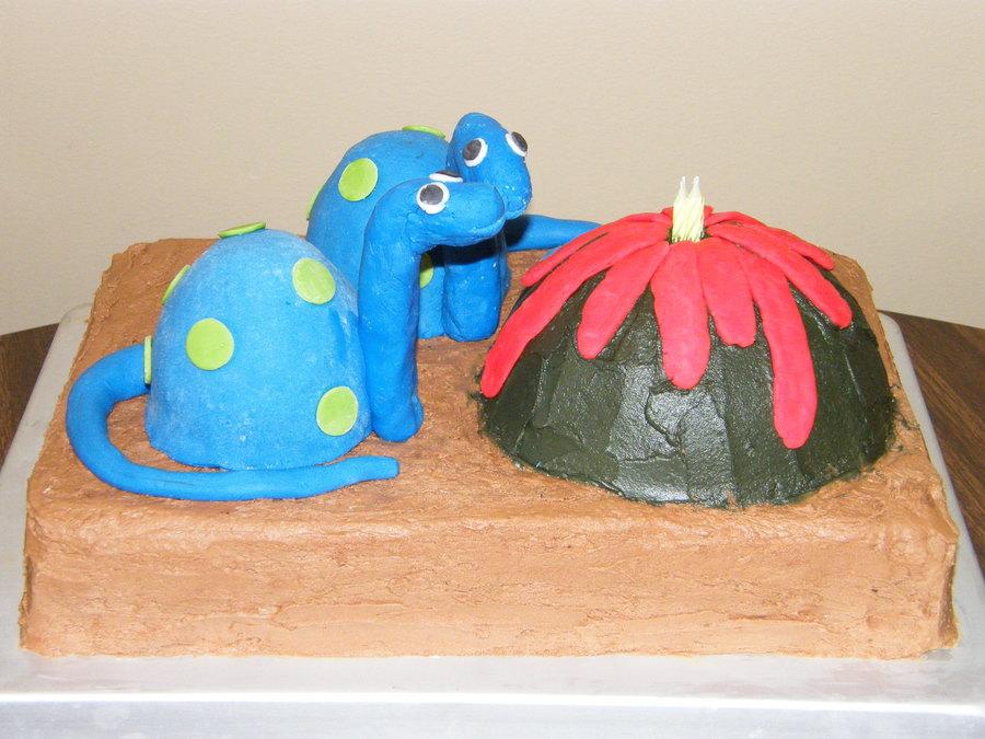 Sams Dinosaur Cake Cakecentral Com