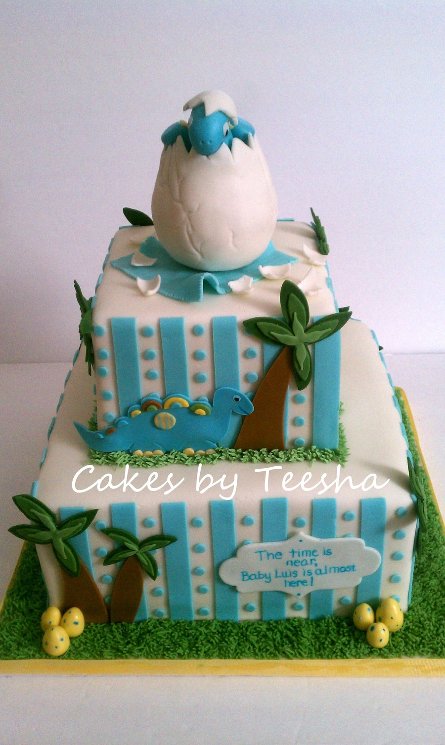 Hatching Dino on Cake Central