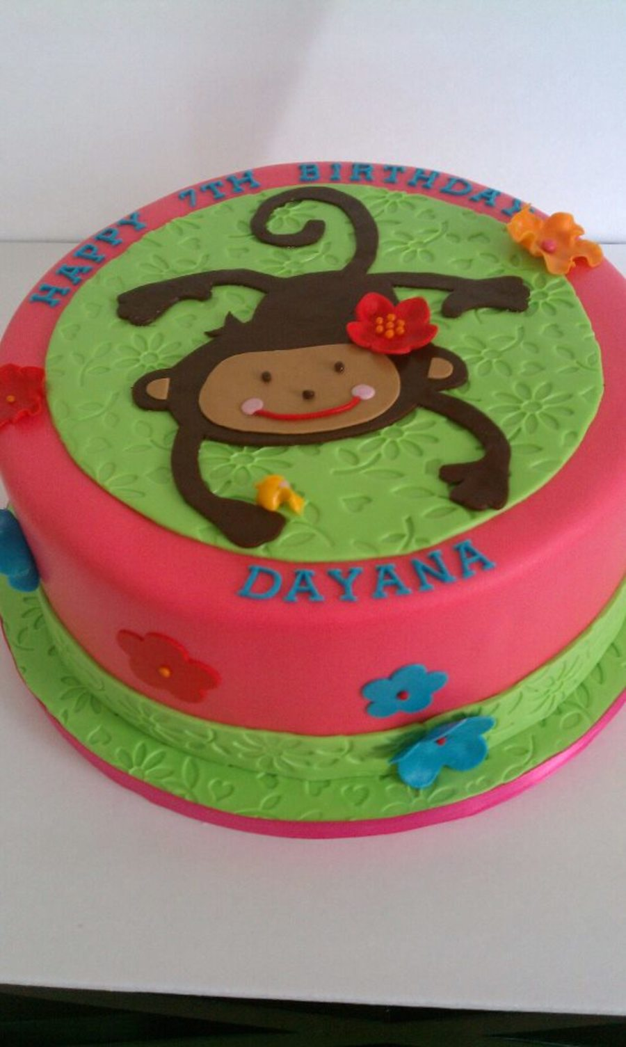Girl Monkey To Match The Paper Plates on Cake Central