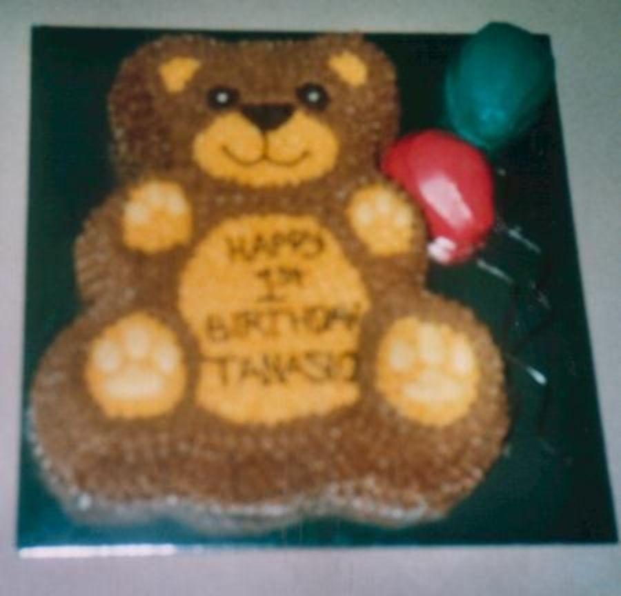 Fuzzy Teddy Bear Cake