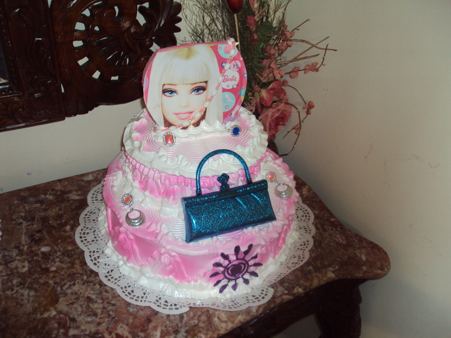 Barbie's Cake on Cake Central
