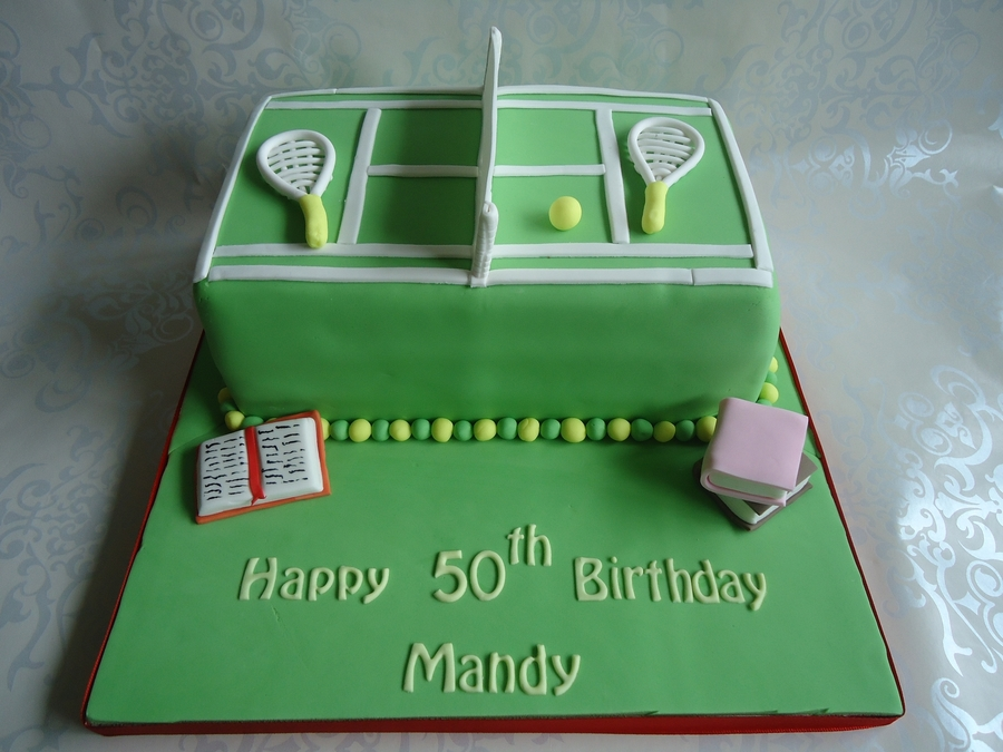 Tennis Court Cake.  on Cake Central
