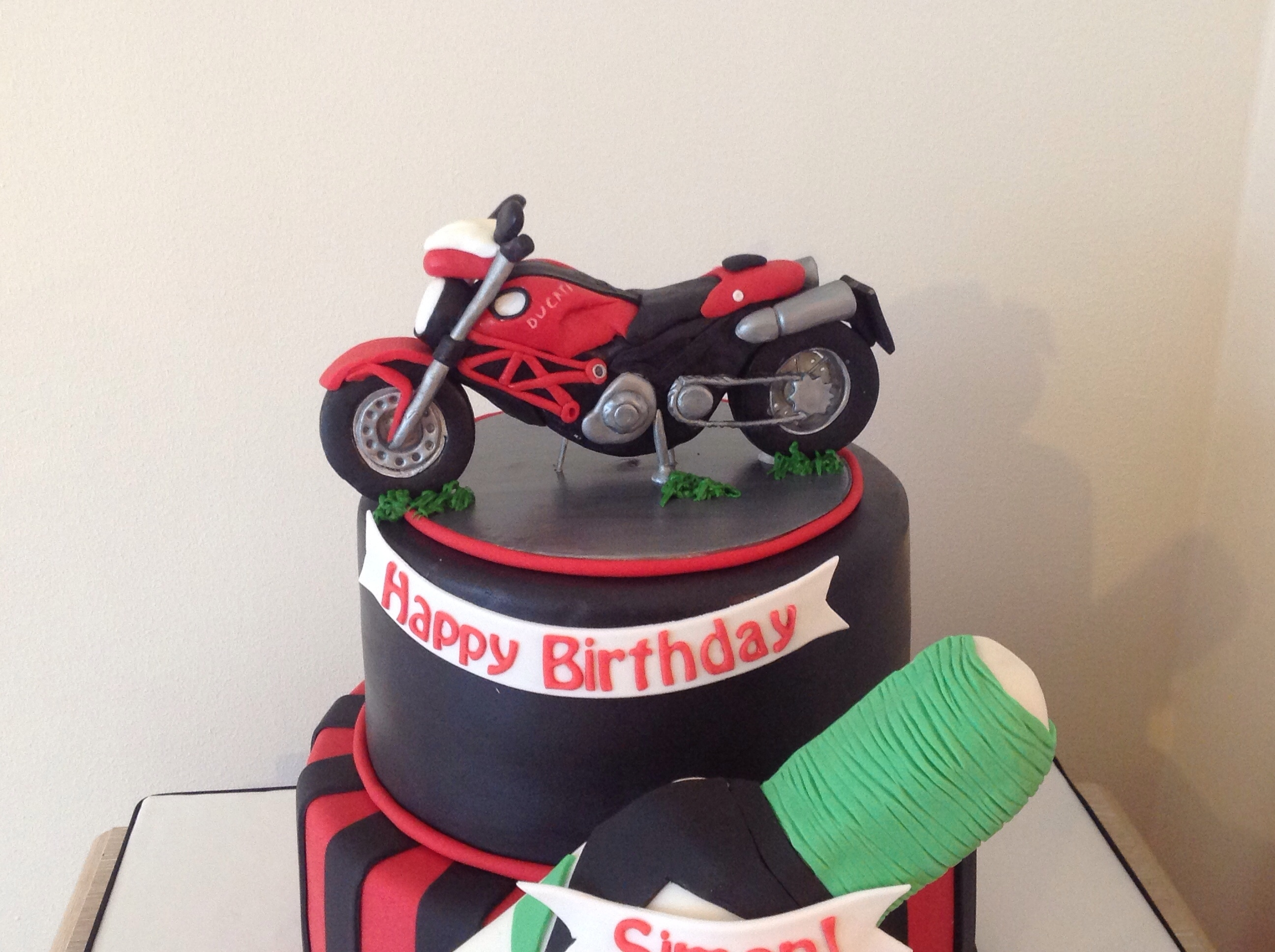 Motorbike And Sports Cake Cakecentral