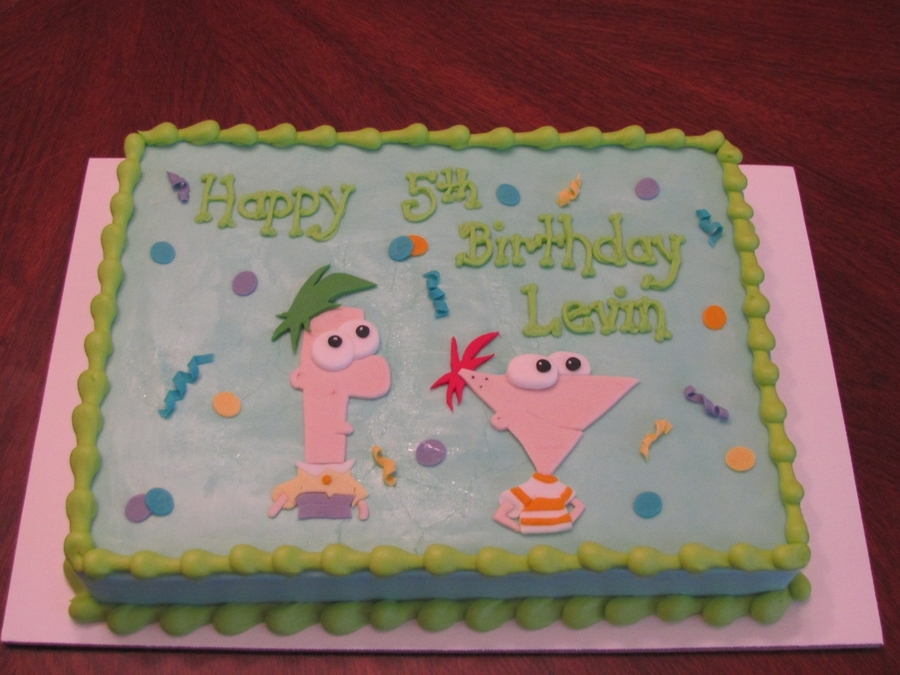 Phineas And Ferb on Cake Central