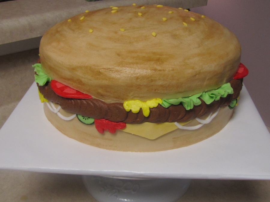 Hamburger Birthday on Cake Central