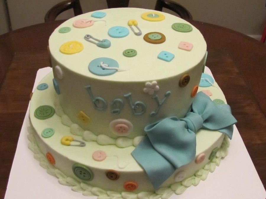 Button Baby Shower on Cake Central