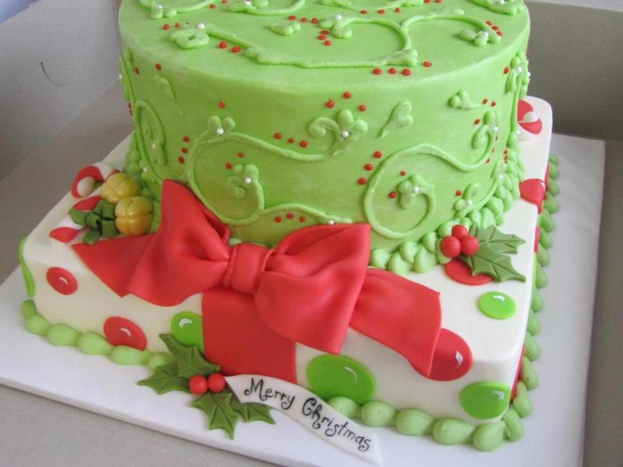 Merry Christmas Cake on Cake Central