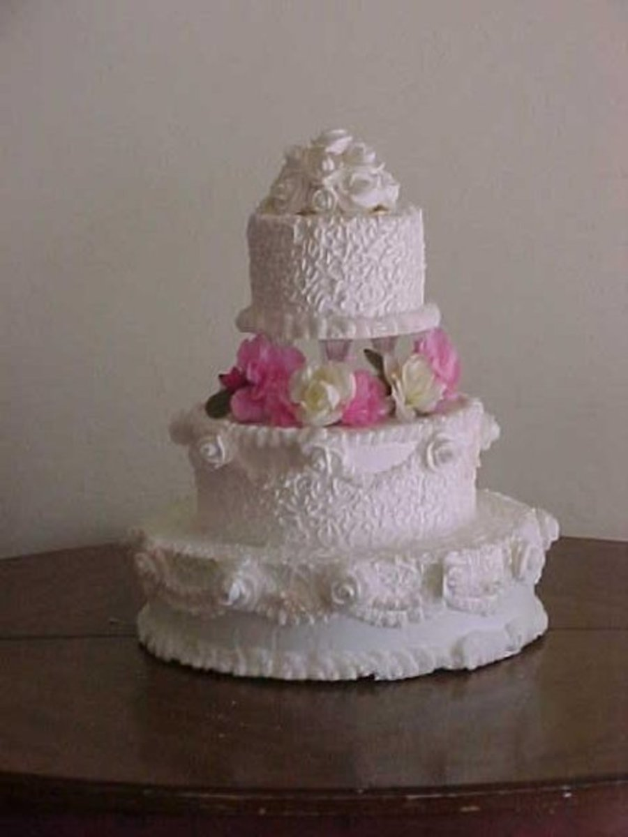 Lace Work And Roses - CakeCentral.com