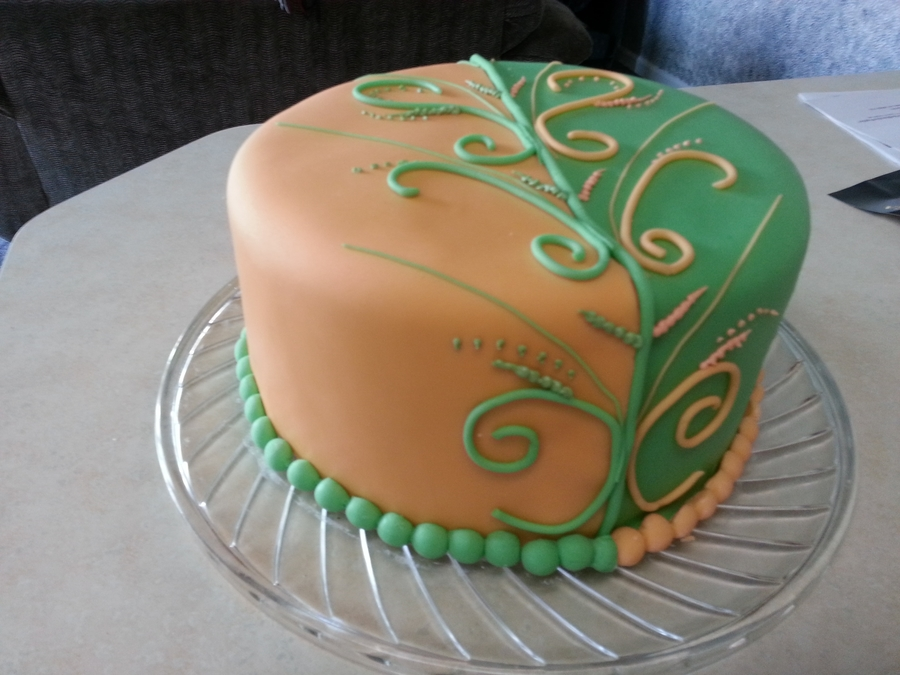 Orange And Green on Cake Central