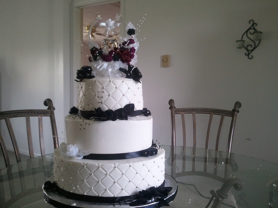 Wedding Black And White Theme on Cake Central
