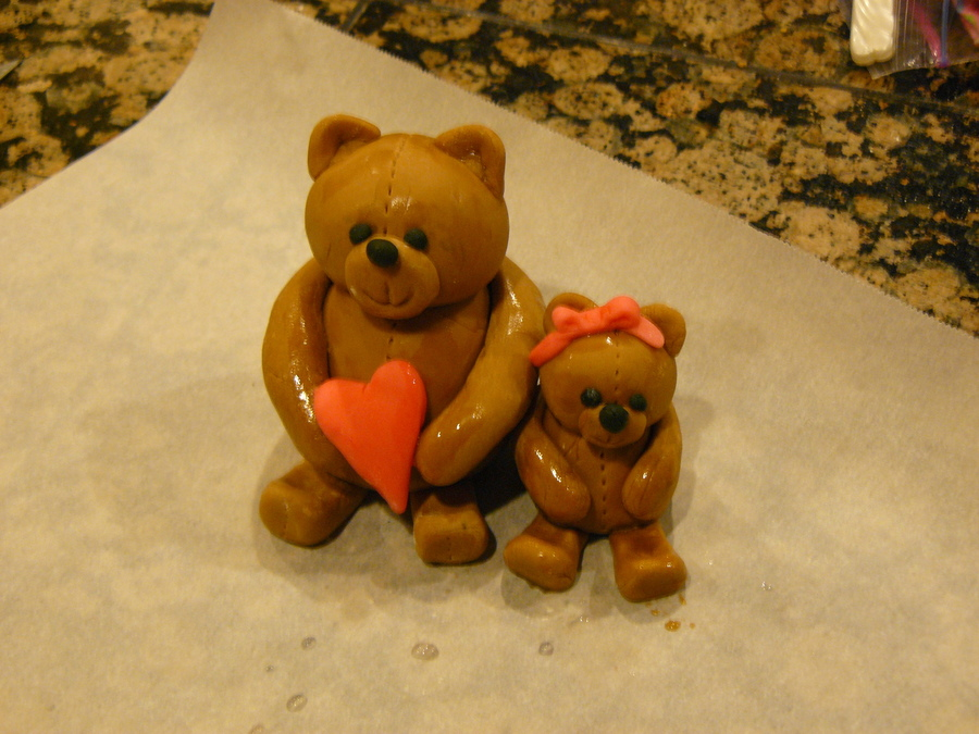 Daddy Bear And His Little Girl on Cake Central