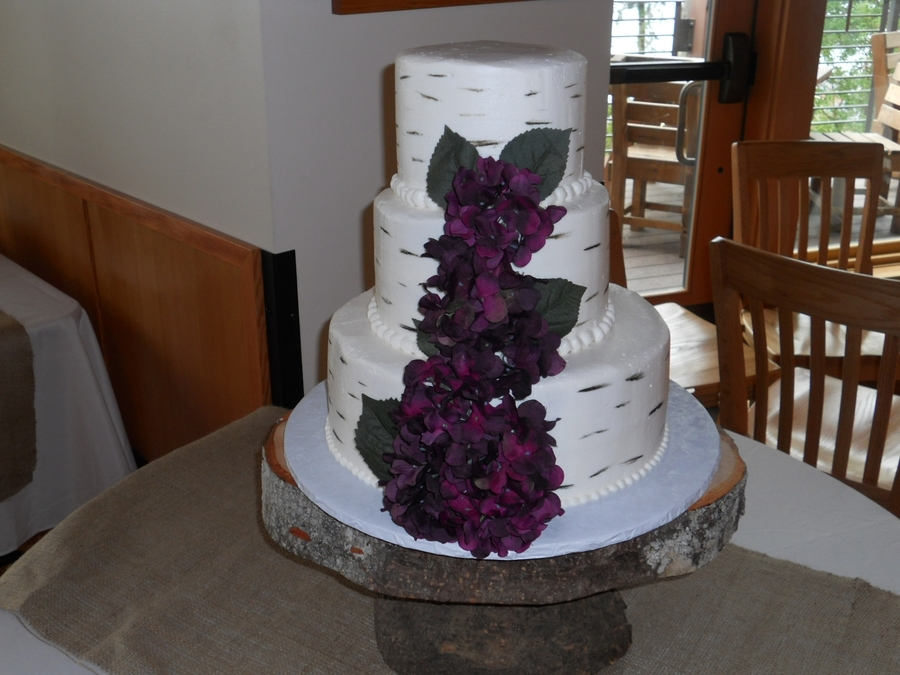 Birch Bark Theme on Cake Central