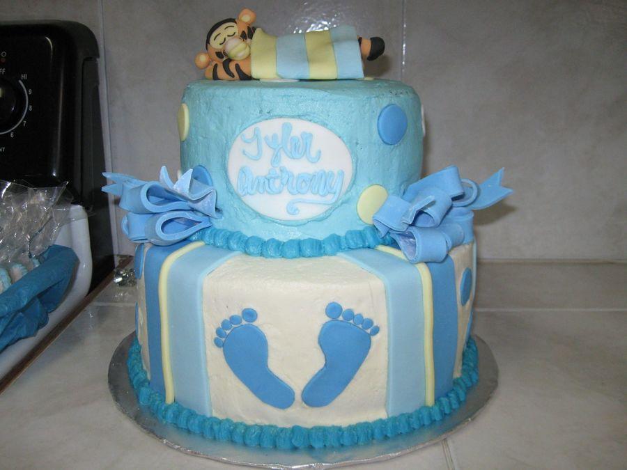 Baby Feet Shower Cake - CakeCentral.com