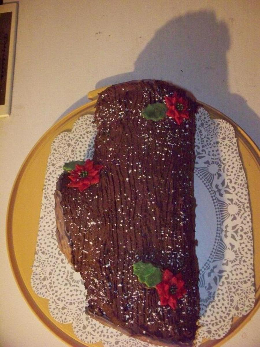 Yule Log on Cake Central