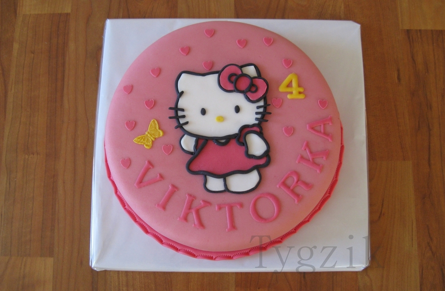 Hello Kitty With Butterfly on Cake Central