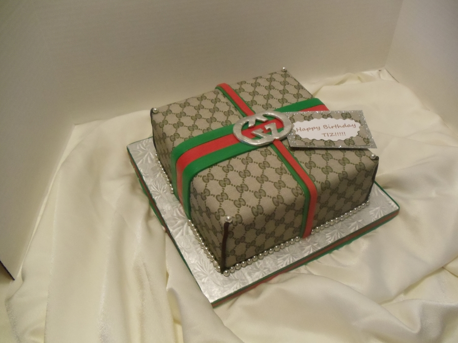 Gucci Gift Box For A Guy... on Cake Central