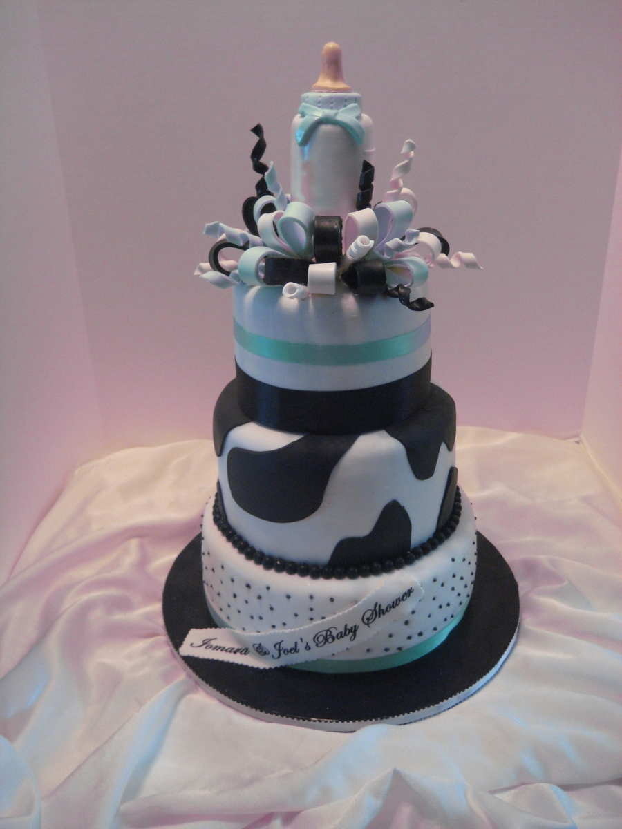 Milk Aholic Baby Shower  on Cake Central