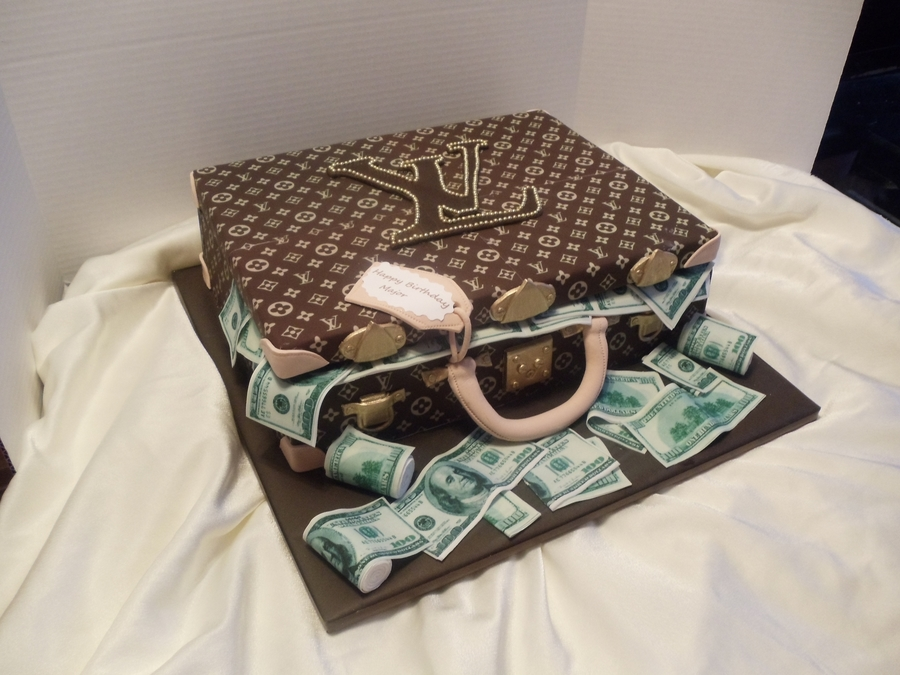 Another Lv Brief Case  on Cake Central