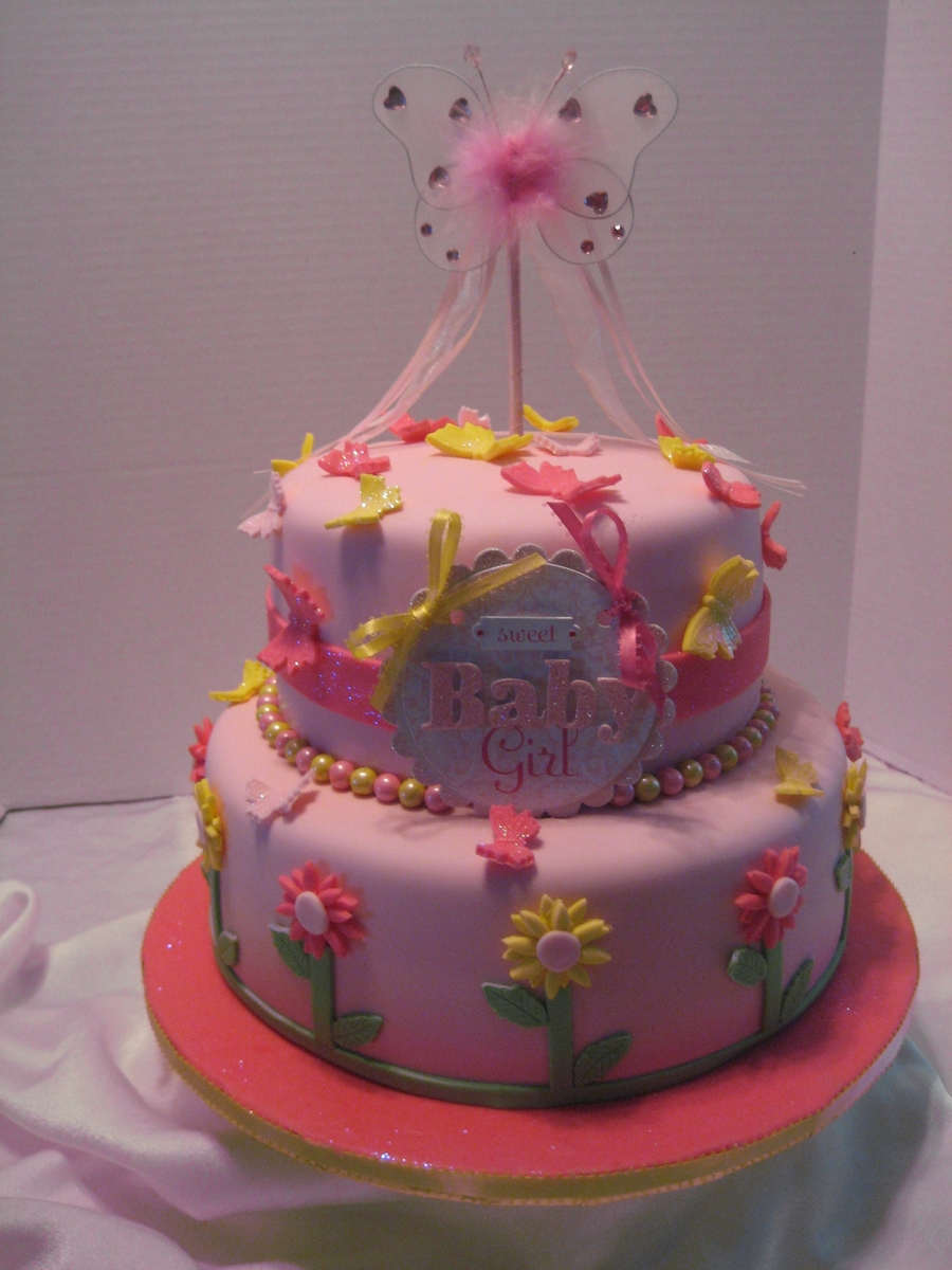 Butterflies And Flowers on Cake Central