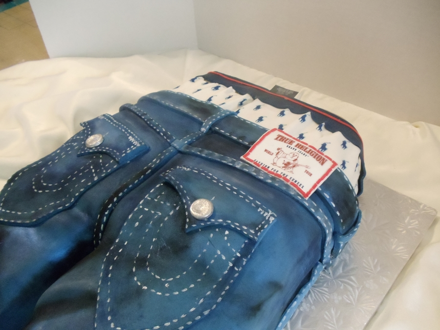 My First True Religion Jeans - CakeCentral.com