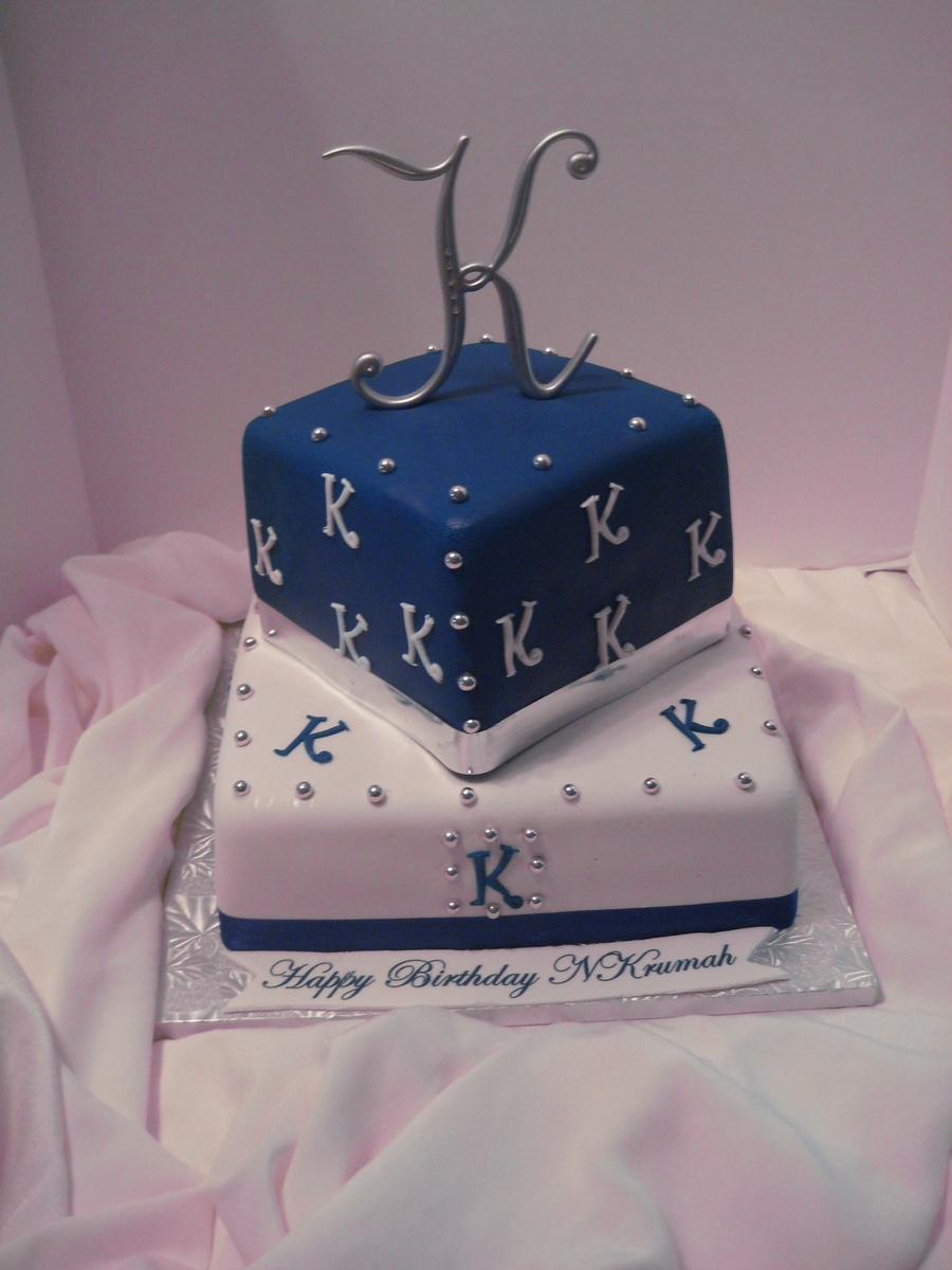 Blue And K Cake on Cake Central