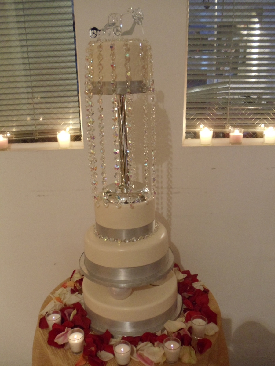 Bling And Silver Wedding on Cake Central