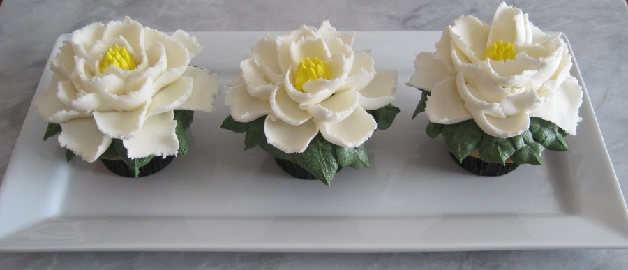 Large Buttercream Flower Cupcakes So Easy Use Ateco Tip 403 And A Large Grass And Leaf Tip Thanks For Looking on Cake Central