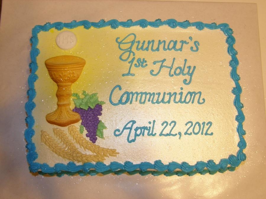 Gunnar S 1st Communion Cakecentral Com