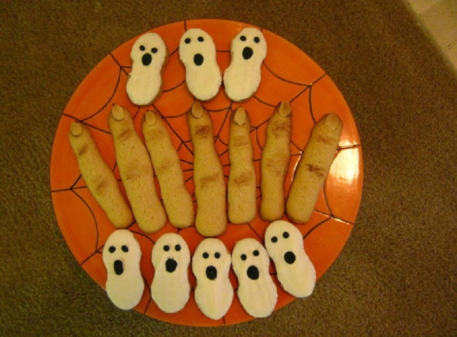 Nutter Butter Ghosts And Witches Fingers Cookies on Cake Central