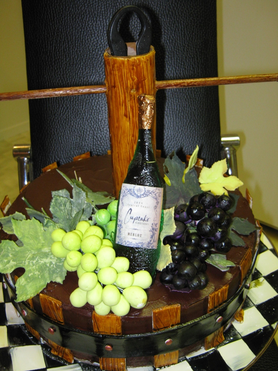 Wine Press Cake on Cake Central