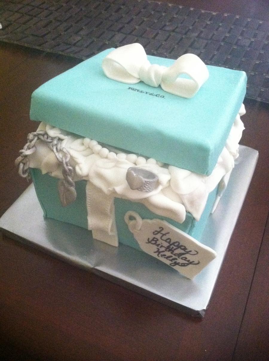 Magnificent Tiffany Co Cake Cakecentral Com Funny Birthday Cards Online Benoljebrpdamsfinfo