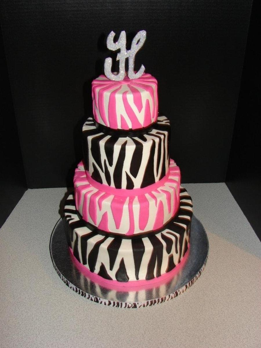 Pink Black And White Zebra Baby Shower On Cake Central