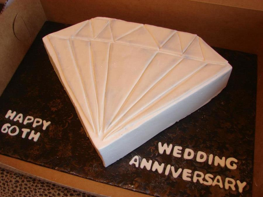60Th Anniversary Diamond on Cake Central