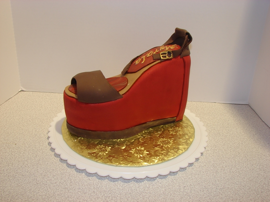 Chunky Wedge Shoe on Cake Central