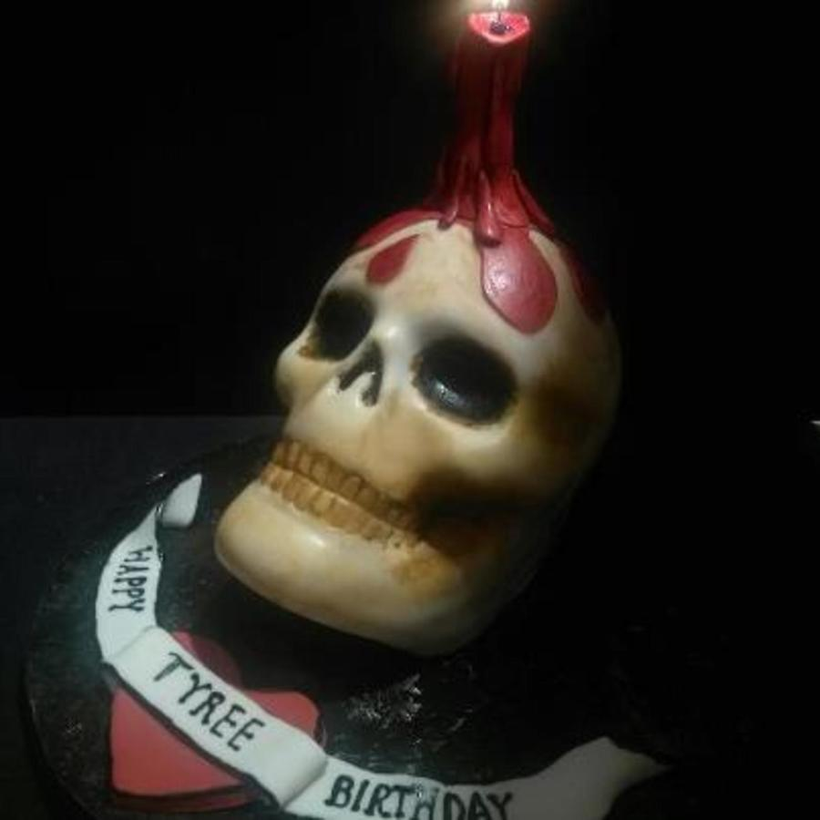 Skull Cake With Candle on Cake Central