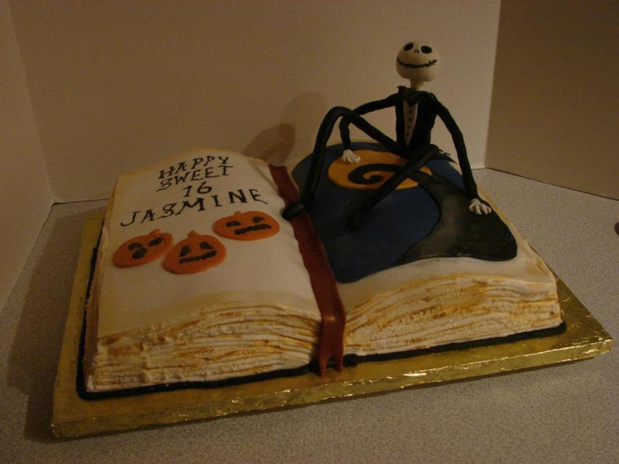 Jack Skellington Open Book Cake  on Cake Central