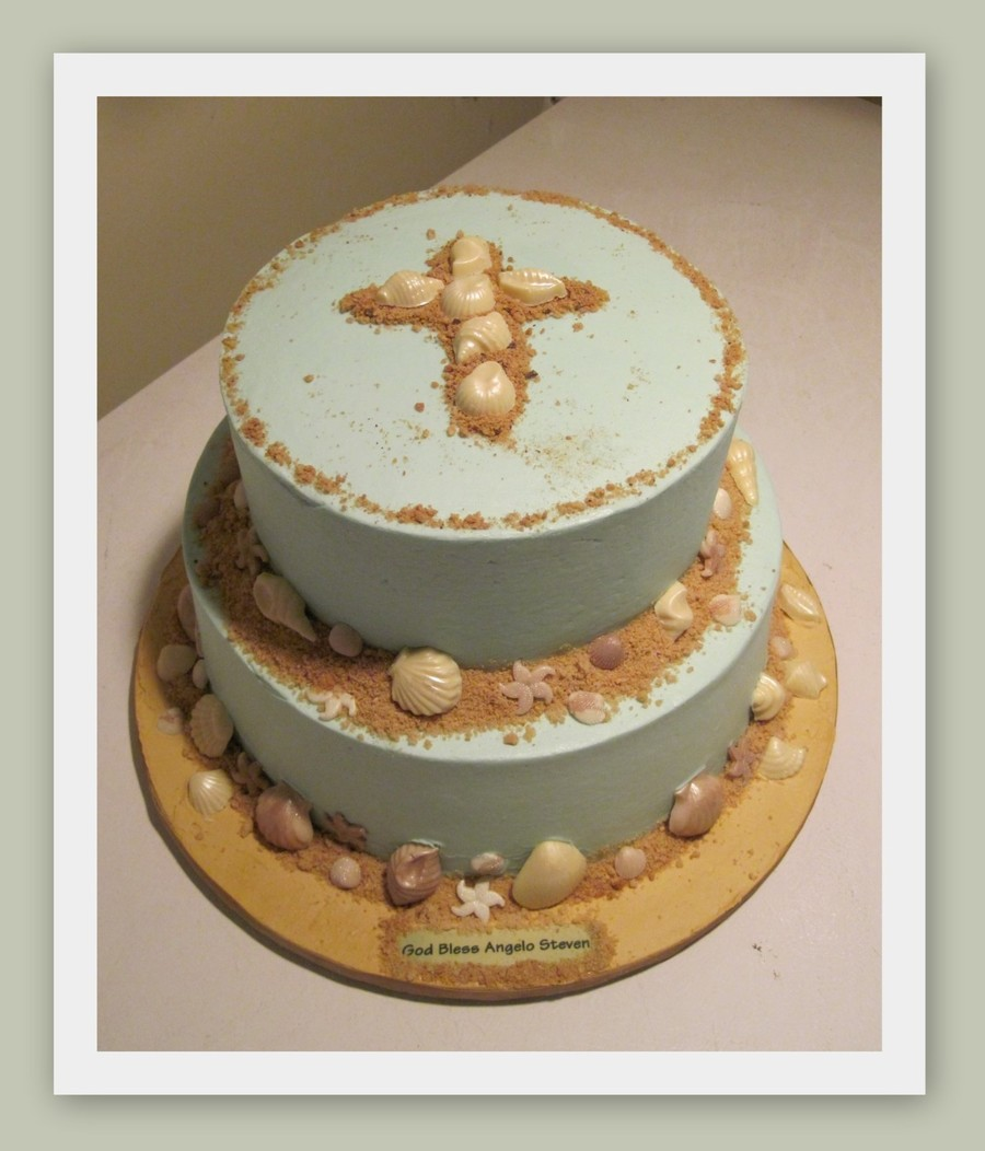 Beach Christening on Cake Central