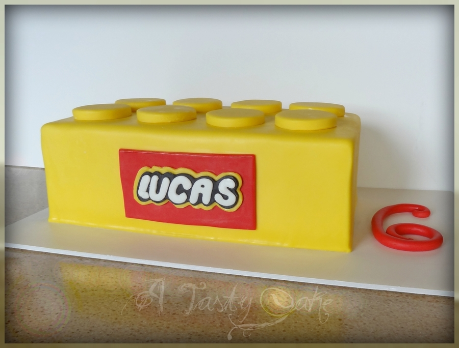 Yellow Lego on Cake Central