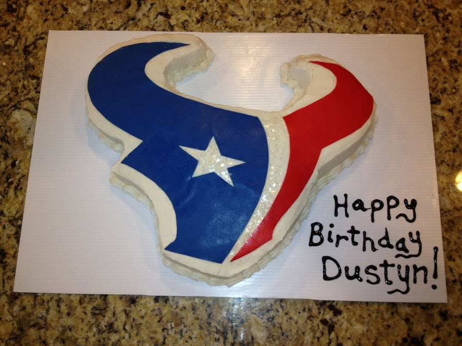 Phenomenal Houston Texans Birthday Cake Cakecentral Com Birthday Cards Printable Giouspongecafe Filternl