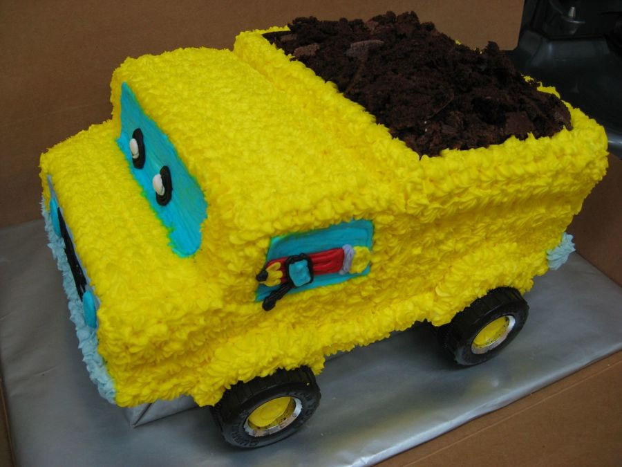 Construction Pals Dump Truck  on Cake Central